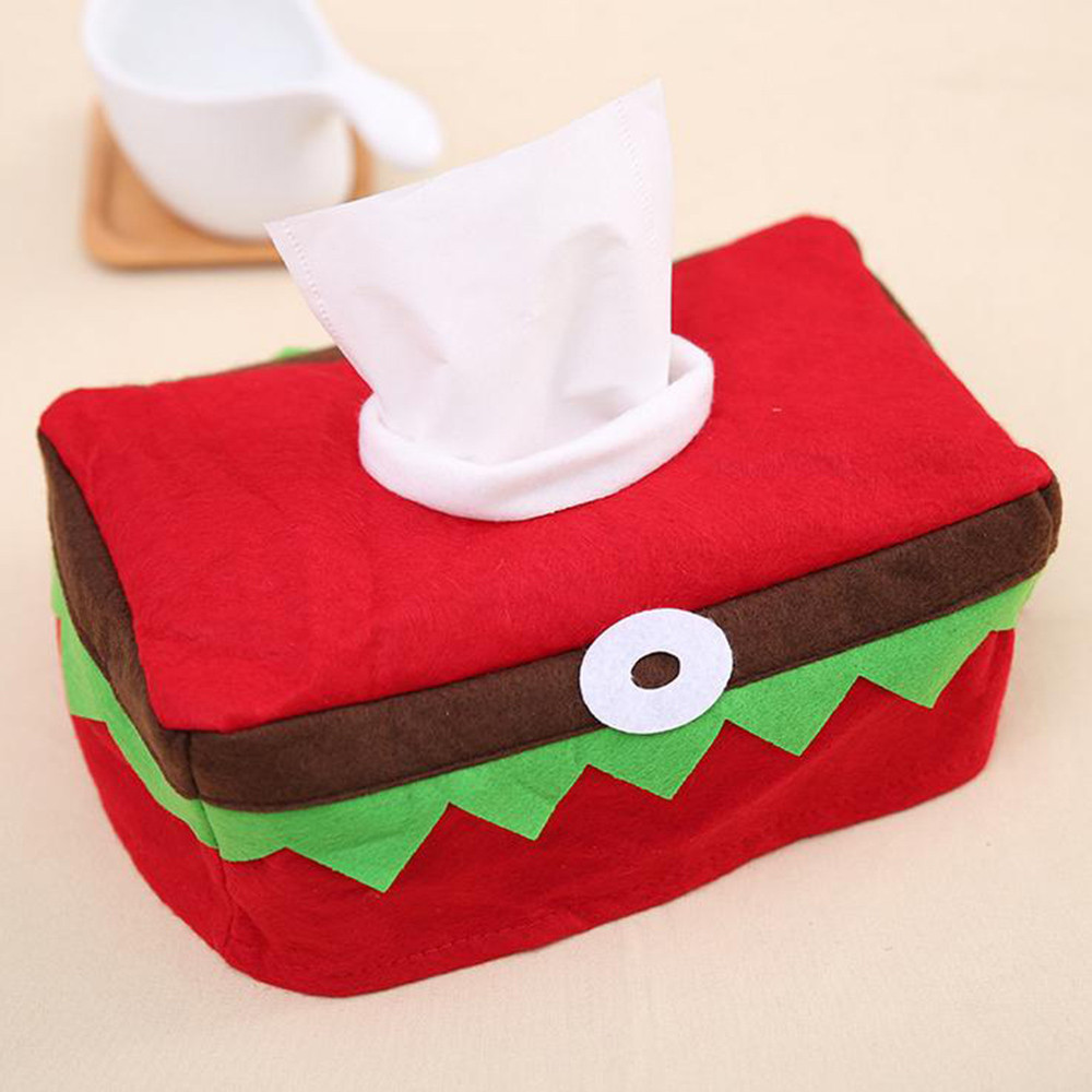 Christmas Tissue Box Cover Bag Decoration Family Party Christmas Paper Towel Box