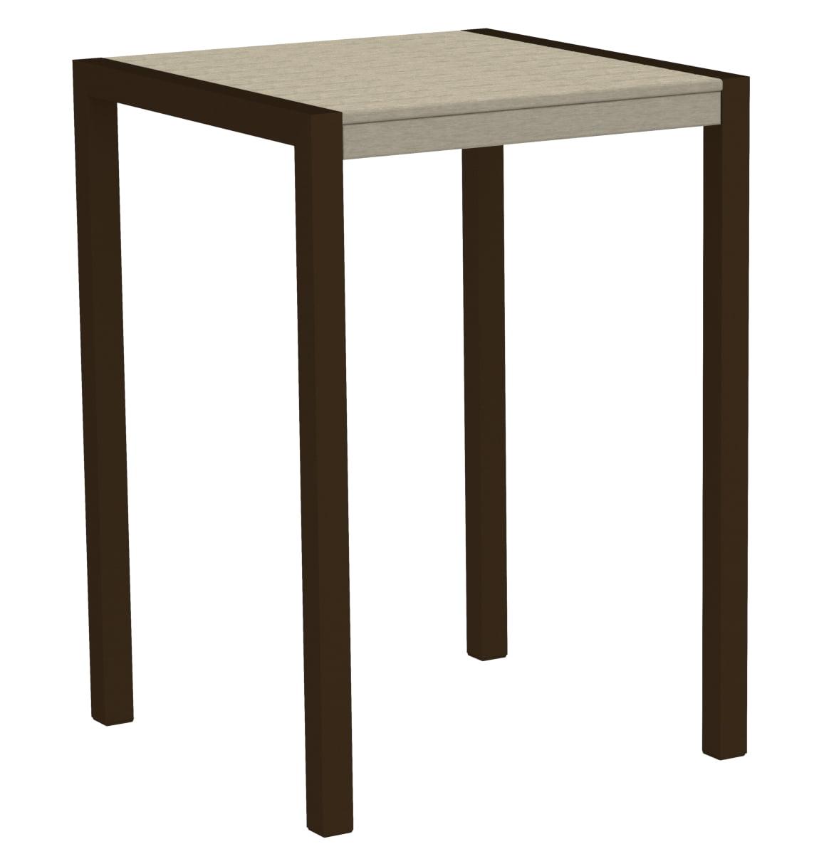 POLYWOOD 8002-16SA MOD 30' Bar Table in Textured Bronze / Sand