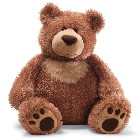 Slumbers Teddy Bear Stuffed Animal, Classic brown teddy bear with tan chest patch and paw accents By GUND
