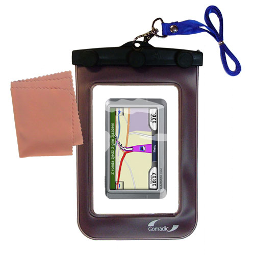 Gomadic Clean and Dry Waterproof Protective Case Suitablefor the Garmin Nuvi 250 250W 250WT to use Underwater