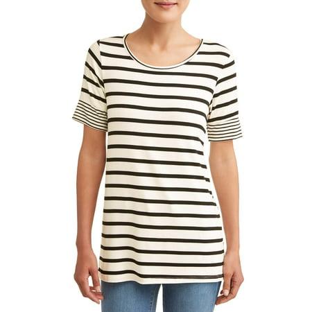 Women's Mixed Stripe Short Sleeve T-Shirt