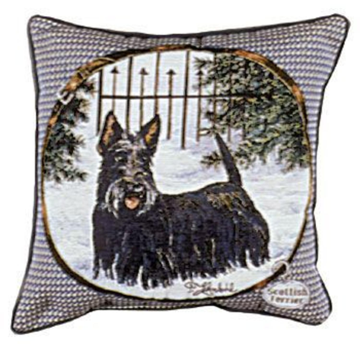 "Scottish Terrier Dog Animal Decorative Throw Pillow 17"" x 17"""