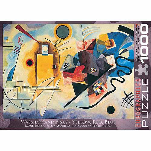 EuroGraphics Gelb Rot Blau by Kandinsky 1000-Piece Puzzle