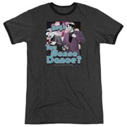 Saturday Night Live You Wanna Dance Mens Adult Heather Ringer Shirt