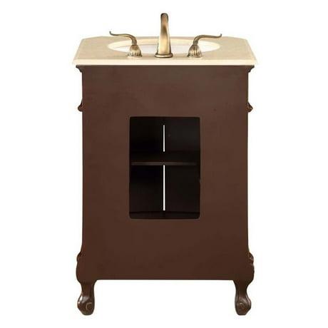 Elegant Lighting Danville 2 Door 24 Single Bathroom Vanity In Brown