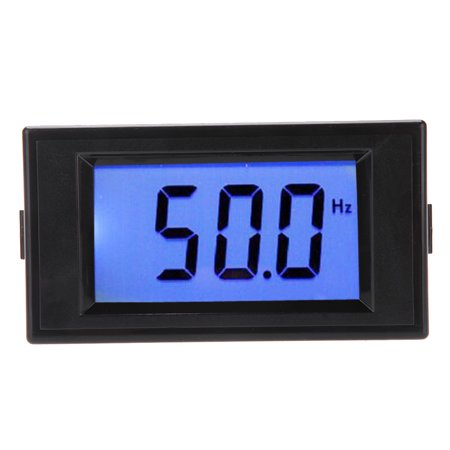 10-199.9Hz Blue LCD Digital Frequency Panel Meter Gauge Cymometer