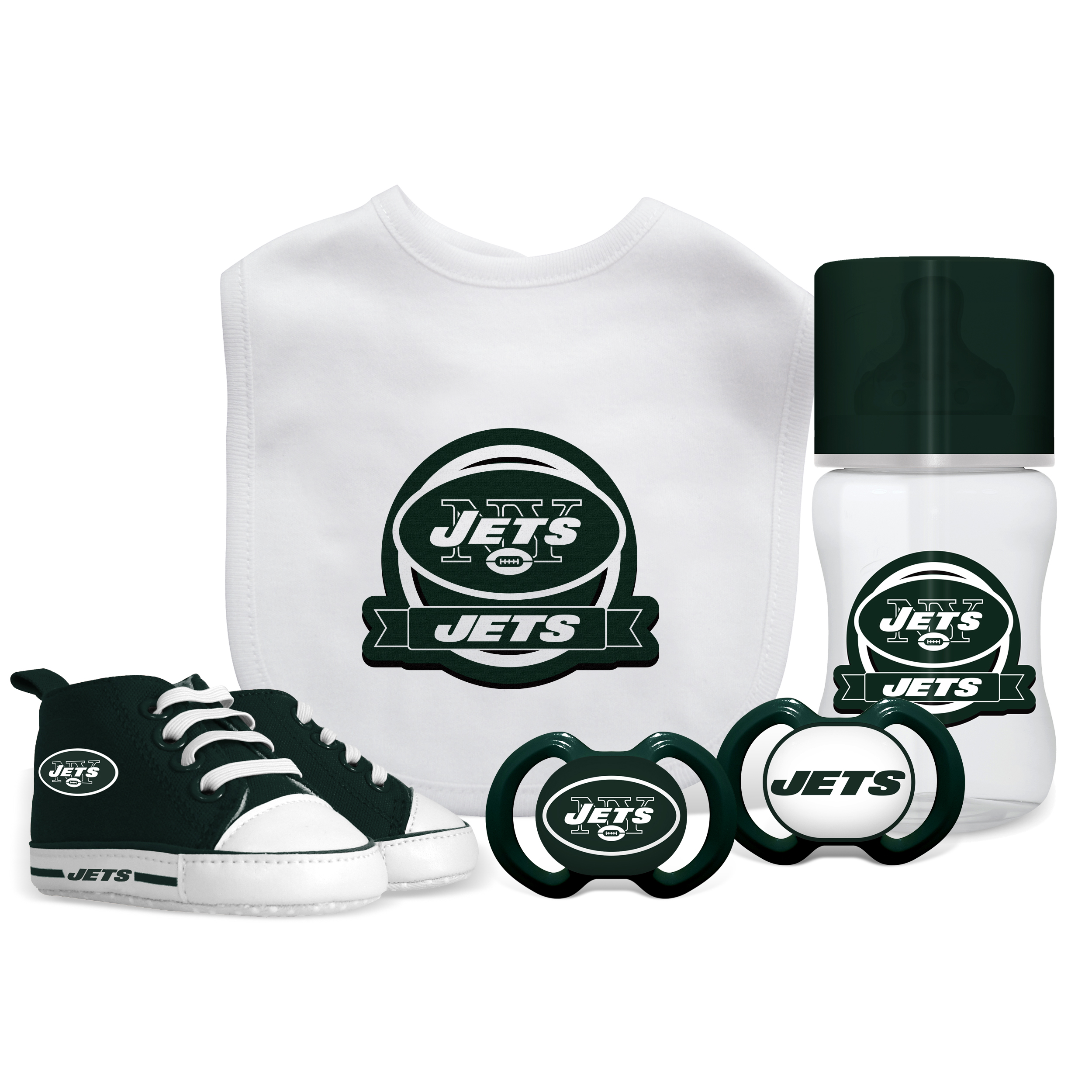 NFL New York Jets 5-Piece Baby Gift Set