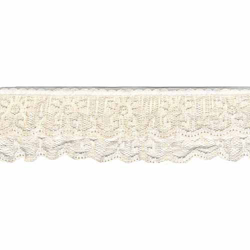 """Wrights Two Tier Lace, 2"""" x 12 yds, Natural"""
