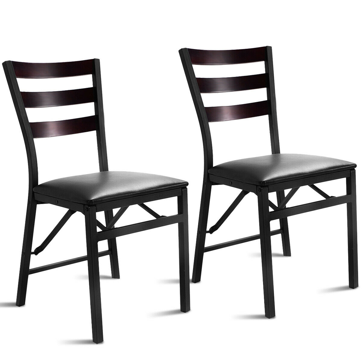 Gymax 2PC Folding Chair Home Restaurant Furniture - image 8 of 8