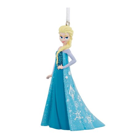 Hallmark 2HCM1013 Frozen Elsa Standing Christmas Ornament, Resin - Mini Resin Halloween Ornaments