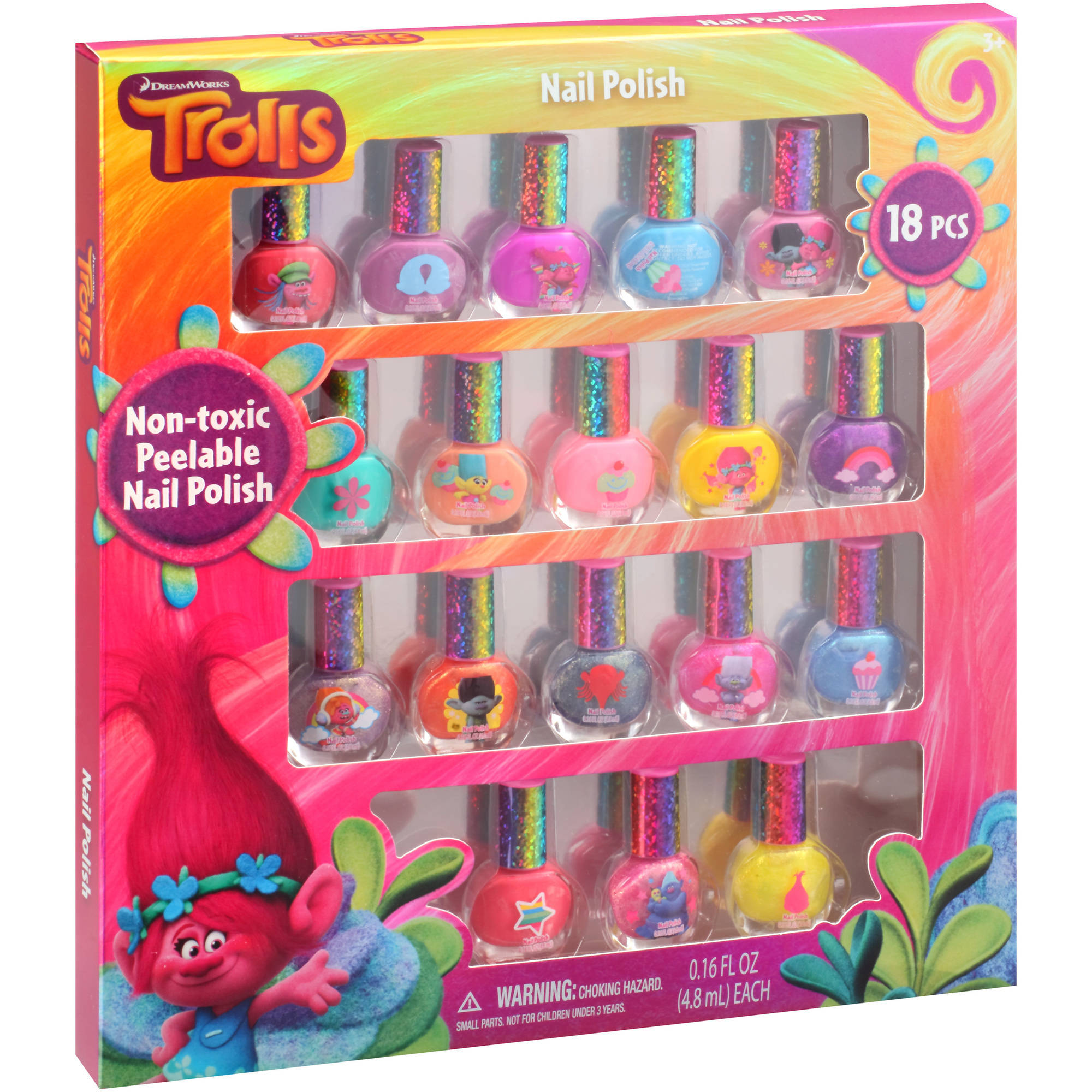 Townley Inc. DreamWorks Trolls Nail Polish Kit, 0.16 fl oz, 18 pc