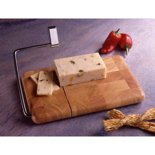 Prodyne Butcher Block End Grain Beechwood Cheese Slicer