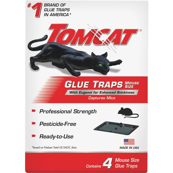 Tomcat Mouse Glue Trap, 4 pk