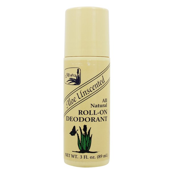 Alvera - All Natural Roll-On Deodorant Aloe Unscented Unscented - 3 fl. oz.