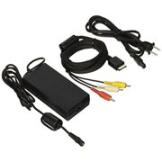 Slim AC Adapter Charger Power Cord Supply For Sony PS2 Slim And Audio Video AV RCA Cable
