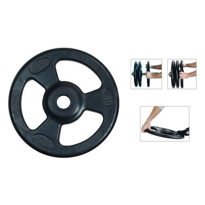 York Iso-Grip Rubber Encased Olympic Plates - 25 LBS