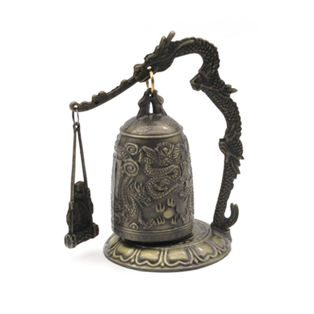Dragon Bell Hang Decoration Buddhist Bell Good Luck Bell Bronze Lock Monk