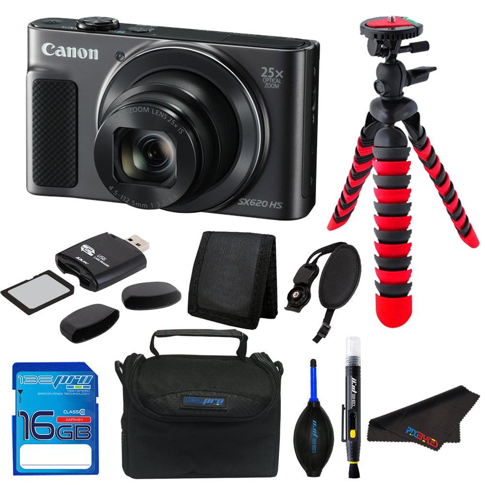Canon PowerShot SX620 HS Digital Camera (Black) + Pixi Essentials Bundle Kit