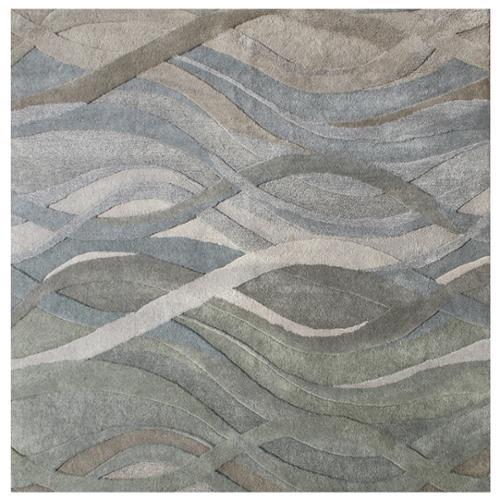 Alliyah Handmade Grey/Green New Zealand Blend Wool Rug (10' x 10')