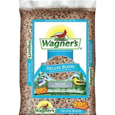 Wagner's 13008 Deluxe Wild Bird Food, 10-Pound Bag, Attracts perching and ground birds By