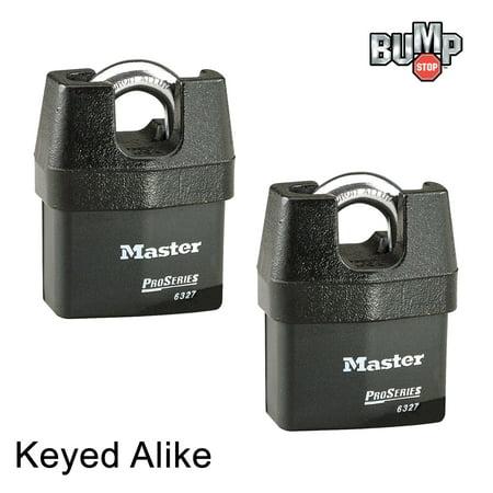 Master Lock Pro Series Padlock - 6327NKA-2 - (2) High Security Locks Keyed Alike