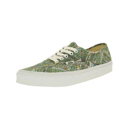 244e1fb05e Vans - Vans Men s Authentic Abstract Black True White Ankle-High Canvas  Fashion Sneaker - 13M - Walmart.com