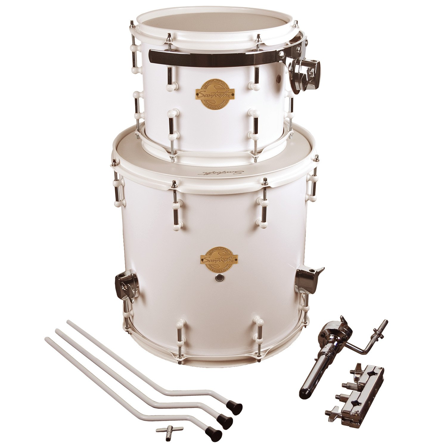 """Sawtooth Command Series Extension Tom Pack - Includes: 8"""" Tom & 14"""" Floor Tom, White"""