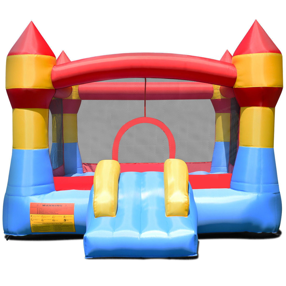 Cool Gymax Inflatable Bounce House Castle Jumper Moonwalk Playhouse Slide Without Blower Interior Design Ideas Gentotryabchikinfo