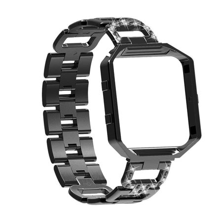 Bling Watch Wrist Band Stainless Steel Chained Replacement Accessories Strip Band Metal Fashion Luxury Watchstrap for Fitbit Blaze