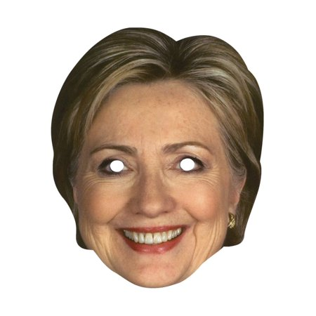 Hillary Clinton Paper Mask Presidential Candidate Democrat USA American Female - Female Mask