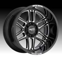 Moto Metal MO992 Folsom Gloss Black Milled 22x10 6x135 -18mm (MO99222063318N)