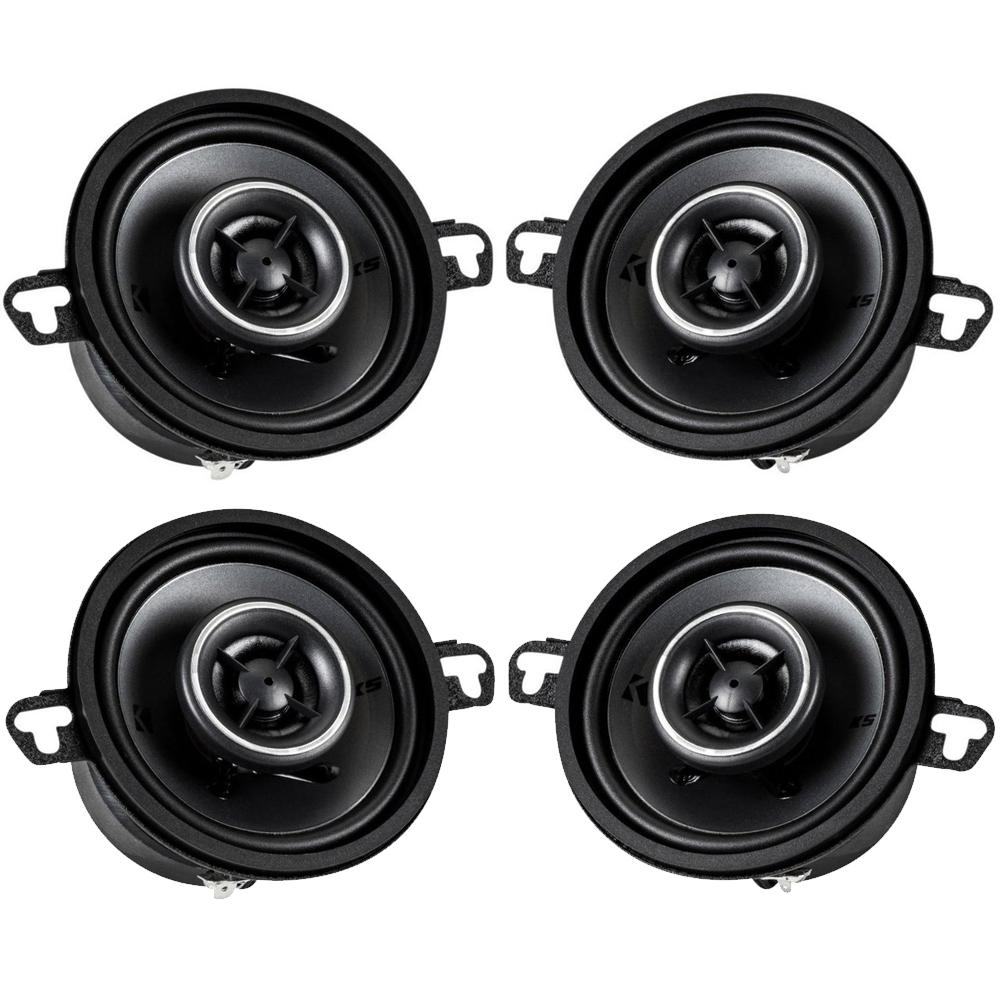 Kicker Speaker Bundle - Two pairs of Kicker 3.5 Inch KS-Series Speakers 41KSC354