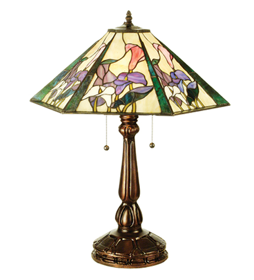 """24.5""""H Calla Lily Hex Table Lamp 50803"""