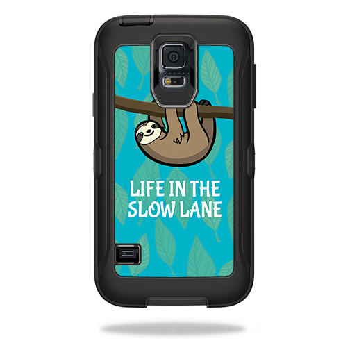 Skin For OtterBox Defender Samsung Galaxy S5  – Slow Sloth | MightySkins Protective, Durable, and Unique Vinyl Decal wrap cover | Easy To Apply, Remove, and Change Styles | Made in the USA