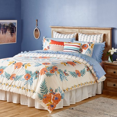 The Pioneer Woman Floral Medallion Comforter, Ivory