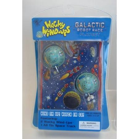 Wacky Wind-ups Galactic Robot Race Playset Tin Toy, Wacky Wind-Ups By Wacky WindUps - Wind Up Toys Bulk