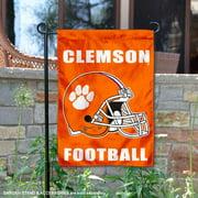 "Clemson Tigers Football Helmet 13"" x 18"" College Garden Flag"