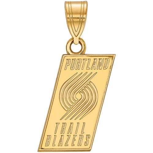 LogoArt NBA Portland Trail Blazers 14kt Yellow Gold Medium Pendant