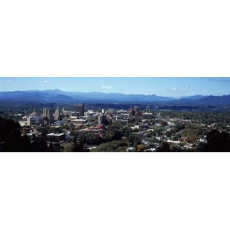 Aerial view of a city Asheville Buncombe County North Carolina USA 2011 Canvas Art - Panoramic Images (18 x 6)](Party City Asheville Nc)