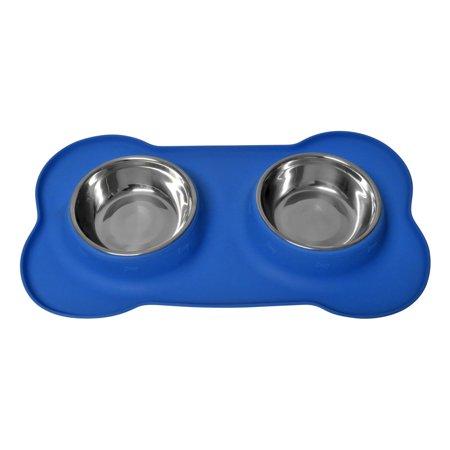 Evelots Bone Shaped No Spill Food Amp Water Dog Bowls No