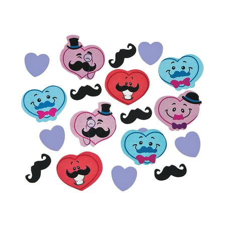 Fun Express - Valentine Mustache Confetti for Valentine's Day - Party Decor - General Decor - Confetti - Valentine's Day - 1 Piece - Mustache Decor