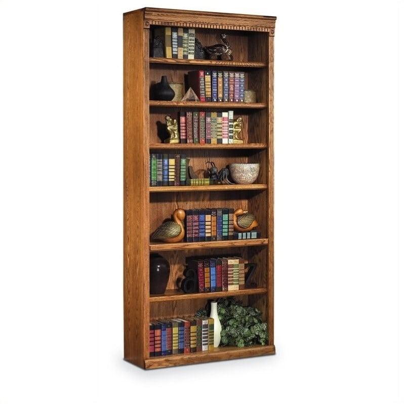 "Kathy Ireland Home by Martin Huntington Oxford 7 Shelf 84""H Wood Bookcase in Wheat"