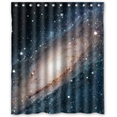 EREHome Infinite Galaxy Shower Curtain Polyester Fabric Bathroom Decorative Curtain Size 60x72 Inches - image 1 de 1