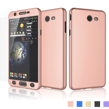 separation shoes d1660 21636 Galaxy J7 Sky Pro Case, Galaxy J7 Perx / Halo Case, Galaxy J7 V/J7V/J7 Caes  Cover, Njjex Hard Case Full Protective With Tempered Glass Screen ...
