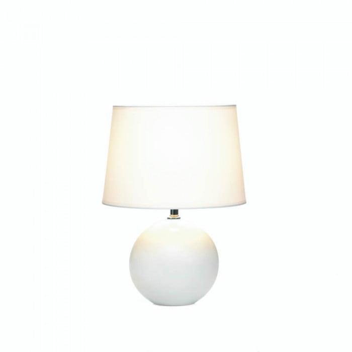 White Round Base Table Lamp Walmart Com