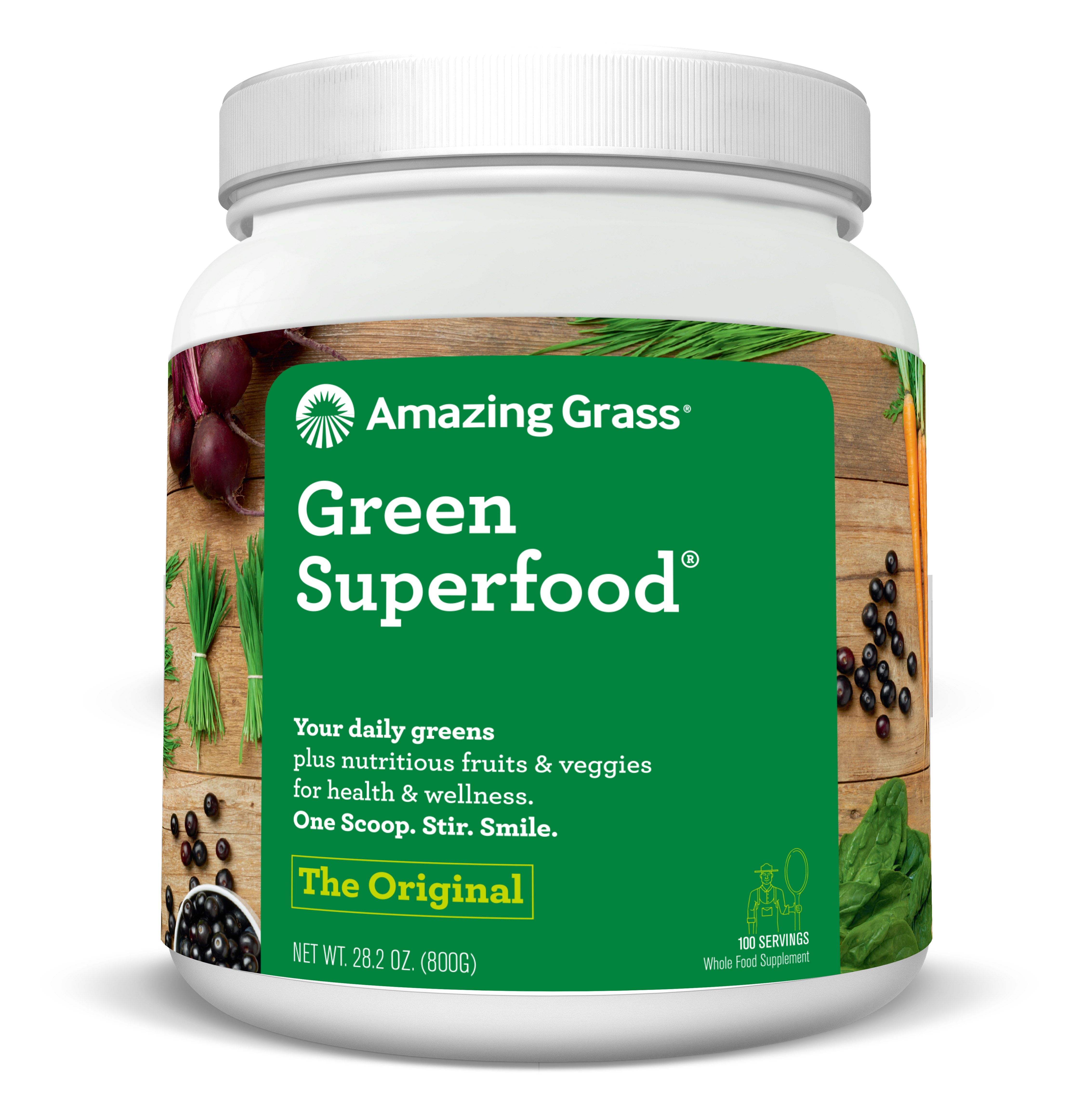Amazing Grass Green Superfood Powder, Original, 100 Servings