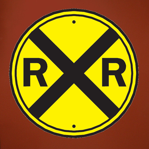 Wallhogs Railroad Crossing Sign Wall Decal