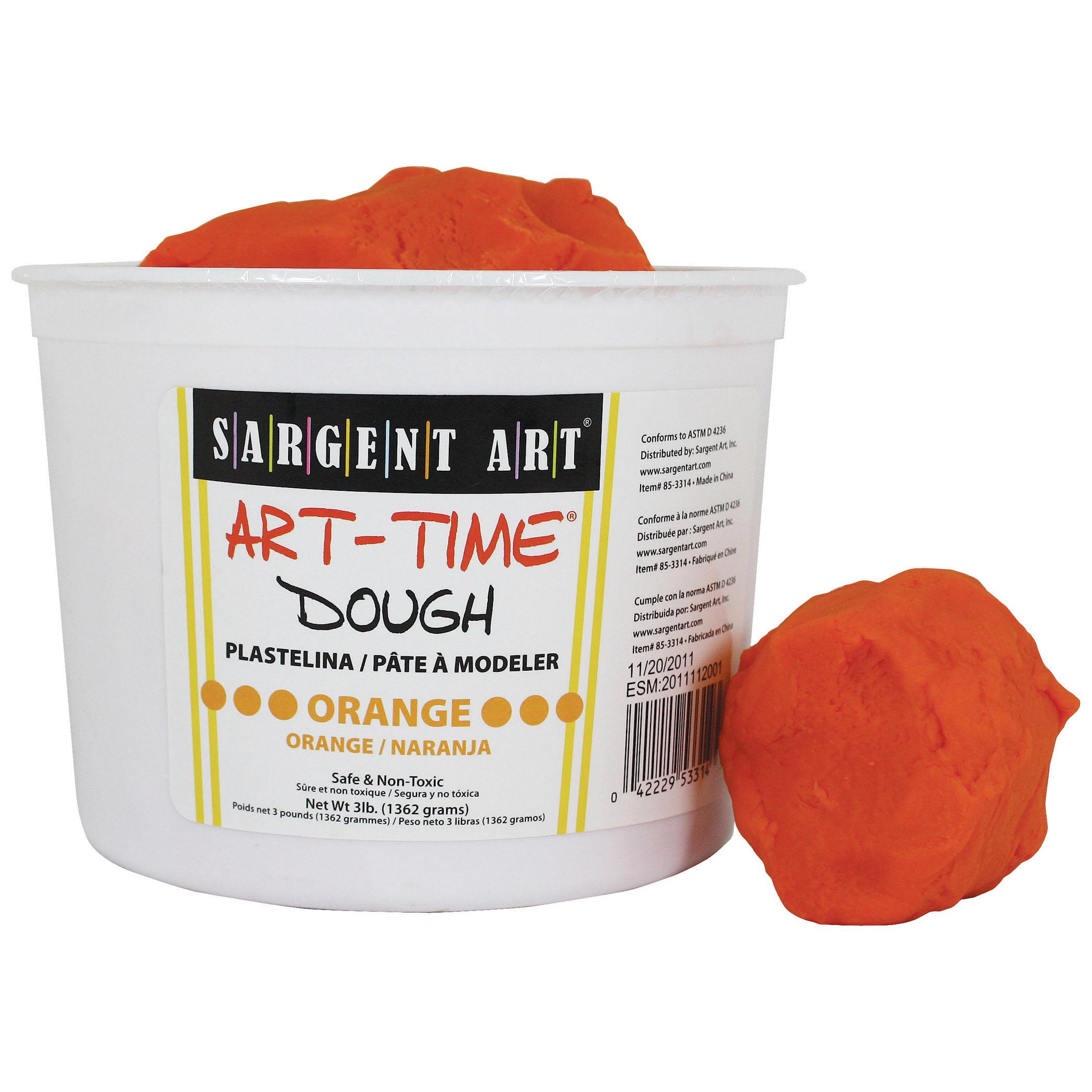 Art-Time® Dough, Orange, 3lb Tub, Pack of 3