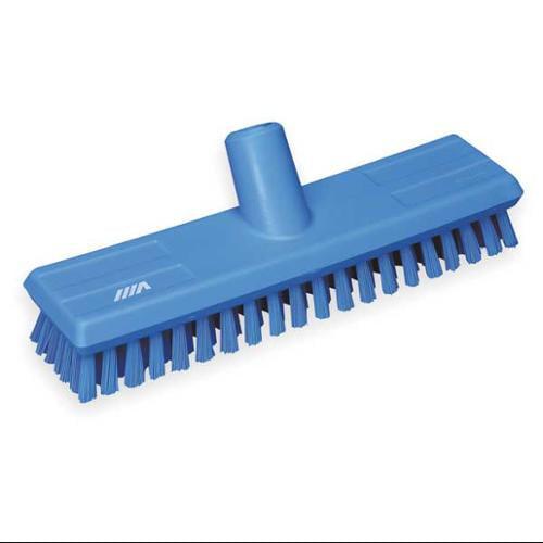 VIKAN 70413 Deck Scrub Brush, Blue, 1 Trim L, PET