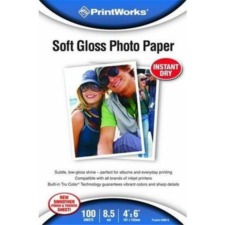 Paris Business Products 00619 Paris Business Products 00619 Papier photo doux lustr- 4 po x 6 po - image 1 de 1
